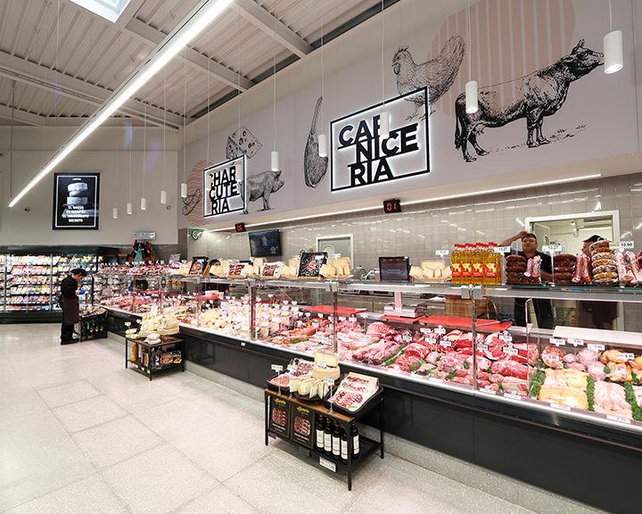 Butcher shop BM supermarket