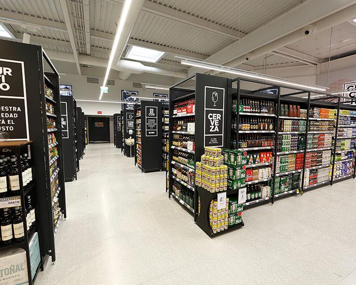 Beer section displays