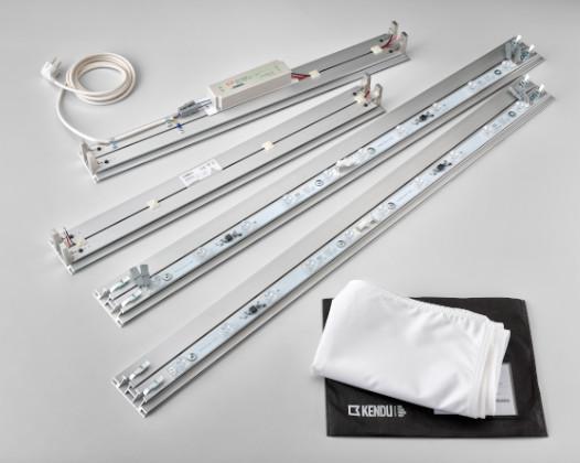 Marcos de aluminio con LED